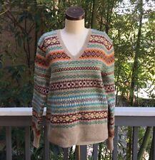 Vintage 90's RALPH LAUREN Wool Sweater LARGE Indian Tribal Unisex