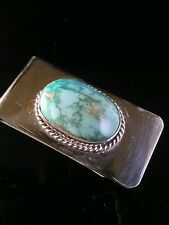 Emerald Valley Turquoise  Money Clip/ Business Card Holder  Unsigned 26.8 Gr