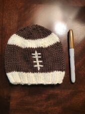 Baby Boy's Hat Cap Beanie Brown Football Infant NEW