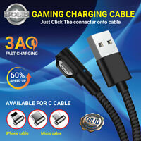 BRAIDED DATA SYNC MOBILE PHONE CHARGER MULTI CABLE TYPE C MICRO USB LIGHTNING 3A