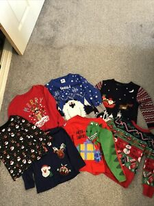 Boys Christmas Bundle Jumper Pyjamas 3-4 Next & George