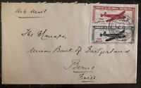1948 Lorenzo Marques Mozambique Barclays Bank airmail cover to Bern Switzerland
