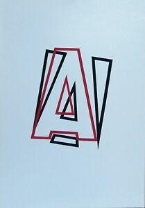 Renato Spagnoli serigrafia 1973 A come Alfabeto rif 2  50x34 firmata numerata