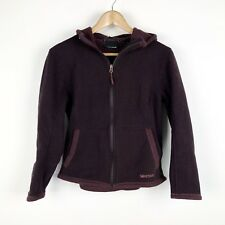 Marmot Womens Med Purple Fleece Jacket Sweater with Hood Winter