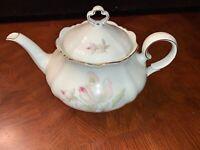 Lovely Schirnding Bavaria White/Flowers-Gold Trim-Teapot Tableware 10 X 5 X 8