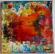 tableau abstrait peinture acrylique sur toile format 20x20 cm original signé