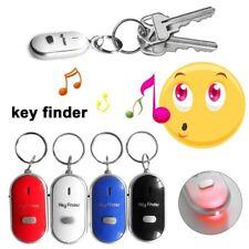4 x Anti-Lost Key Finder Locator Keychain Whistle Sound Control Keyring Tracker