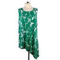 Size 2X Alfani Asymmetrical Hem Tunic Tank Top Blouse Shirt Women's Plus NWT NEW