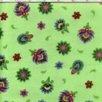 IMPERIAL PAISLEY GREEN Cotton Fabric by Quilting Treasures BTY