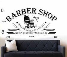 Barbershop Window/Wall Art Sticker/Decal