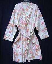 new SILHOUETTES Cotton Robe 2X Plus Size Womens Floral mid calf light bathrobe