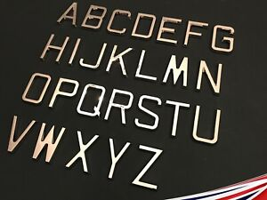 Self adhesive letters chrome Retro 65mm. Personalised walls, signs, doors
