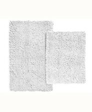 "Popular Bath Aldante 2-Pc 17"" x 24"" AND 20"" x 32"" Microfiber Bath Rug Set  White"