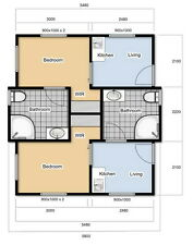 Duplex 2 Bathroom, 2 bedroom Angeli Cabin from Anembo Homes