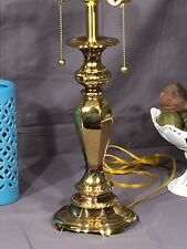 Brass Lamp Kaeder Heavy Dual Socket Pull Chain Table Lamp Decorative Dental Mold