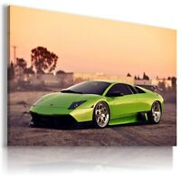 LAMBORGHINI MURCIELAGO GREEN Car Large Wall Art Canvas Picture AU512 MATAGA .