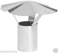 8 inch Round RAIN CAP Galvanized Heater Stove Pipe VENT CAP  New!