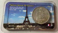 France 50 Franc 90% Silver Coin 1978 Littleton Holder French Francs COA