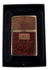 "Zippo Vintage ""1951"" Leatherlook - Lighter Circa 2015"