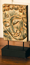 Buddha Plaque Hand Carved Wooden Art Stand Ornament Statue Fair Trade Gift New
