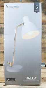 Newhouse Lighting: Amelia Contemporary Desk Lamp - White