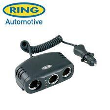 RING RMS3 12v TRIPLE IN CAR CIGAR LIGHTER SOCKET ADAPTOR & BATTERY ANALYSER