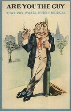 Vinegard Valentine? Are You the Guy - Drunk Leans on Lightpost Postcard rpx