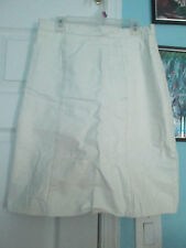 comint vintage white leather skirt 9/10               #976