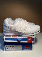 New Balance KV574G8Y W White Out Gum Kid Youth Running Shoes Size 5