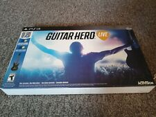 PS3 Guitar Hero Live Bundle (Sony PlayStation 3, 2015) Guitar and Video Game