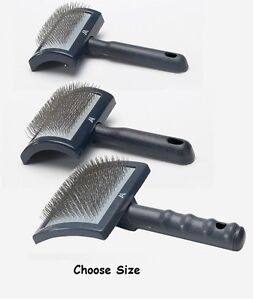 Slicker Brushes for Dog Grooming Professionals Curved Plastic Tool - Choose Size