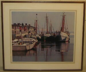 Rare Vintage Original ARTHUR GRIFFIN 'T Wharf BOSTON' Signed COLOR PHOTOGRAPH
