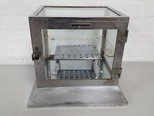 Griffin & George Antique / Vintage Lab Glass Cabinet Desiccating Sample Holders