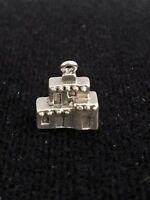 Artisan Sterling Silver MISSION pendant Handmade in Taxco Mexico NEW 3g
