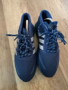 Adidas Los Angeles, Gr. 42, blau reflektierend Herren/Damen Sneaker Sportschuhe