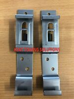 X2 Maypole Rectangular Number Plate Clamps Stainless Steel Trailer Towbar MP341