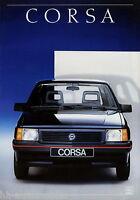 Opel Corsa Prospekt 1/88 Autoprospekt Broschüre 1988 Auto PKWs brosjyre brochure