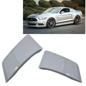 For 15-20 Ford Mustang GT Style Rear Side Fender Hood Vent Painted Silver #UX