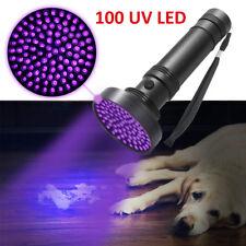 100 LED UV UltraViolet Blacklight Flashlight Lamp Torch Inspection Light Outdoor