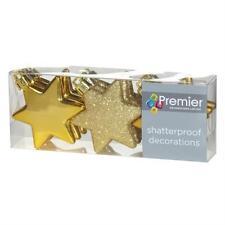 Décorations de sapin de Noël etoiles dorées