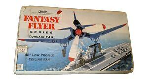 "Hunter 48"" Low Profile Ceiling Fan Fantasy Flyer F4U Corsair WWII Airplane"