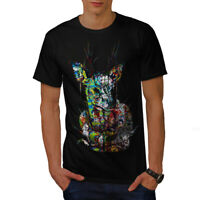 Wellcoda Psychedelic Nature Mens T-shirt, Deer Graphic Design Printed Tee