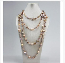 gorgeous south sea5-13mm  multicolor pearl necklace 58inch