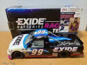 2000 Kurt Busch #99 Exide Truck Autograph w/JSA COA 1:24 NASCAR Racing Champions