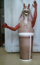 Jar Jar Binks figura 3-D en vaso exclusiva de KFC Star Wars