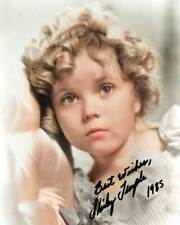 Shirley Temple Young Signed 8x10 RARE COLOR Photo 606
