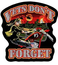 Vets Don't Forget POW MIA Military Embroidered Patch Iron or Sew HLPM24860