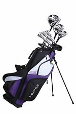 NEW Aspire XD1 Ladies Womens Complete Right Handed Golf Club Package Set PURPLE