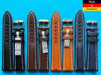 Extra starkes Uhrenarmband 20, 22, 24mm kompatibel Breitling Dorn Juchtenleder
