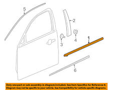 Chevrolet GM OEM-Door Window Sweep-Belt Molding Weatherstrip Left 23387843
